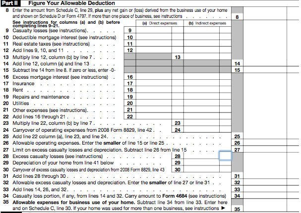 How to Fill Out Form 8829 Claiming the Home Office Deduction – Form 8829 Worksheet